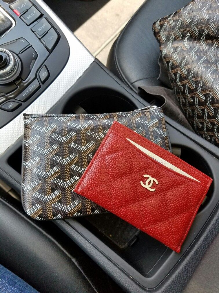 b13e2ad0e99b4a Using my #Chanel card case as a wallet while out and about   Wallets ...