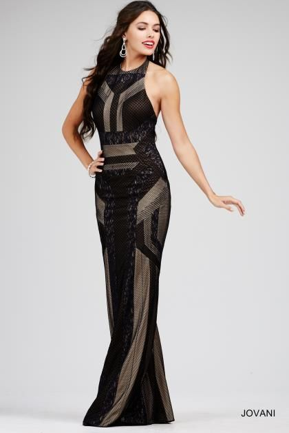 Jovani Halter Top Black Dress 3014 | 2016 Jovani Dresses | Pinterest ...