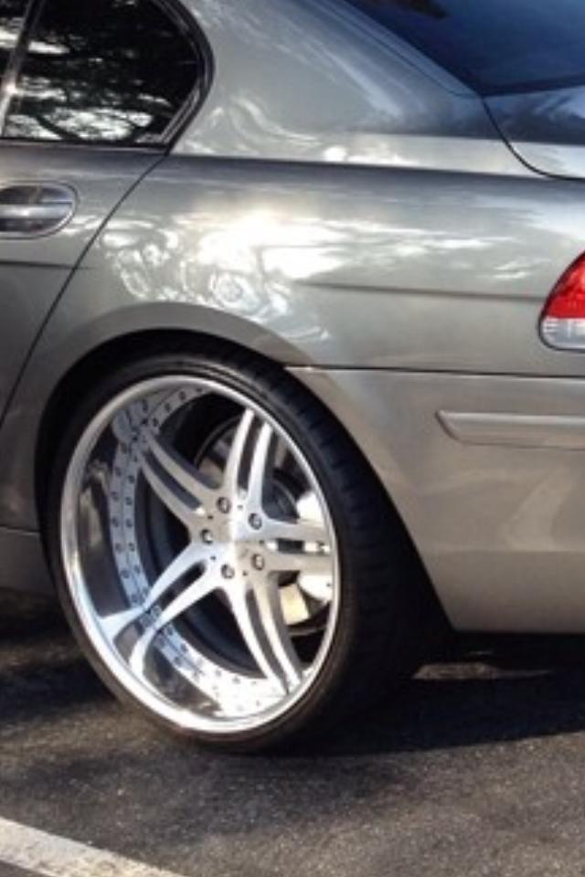 Bmw 750li Vellano Wheels 5 Star Split Brushed Wheels Grey With