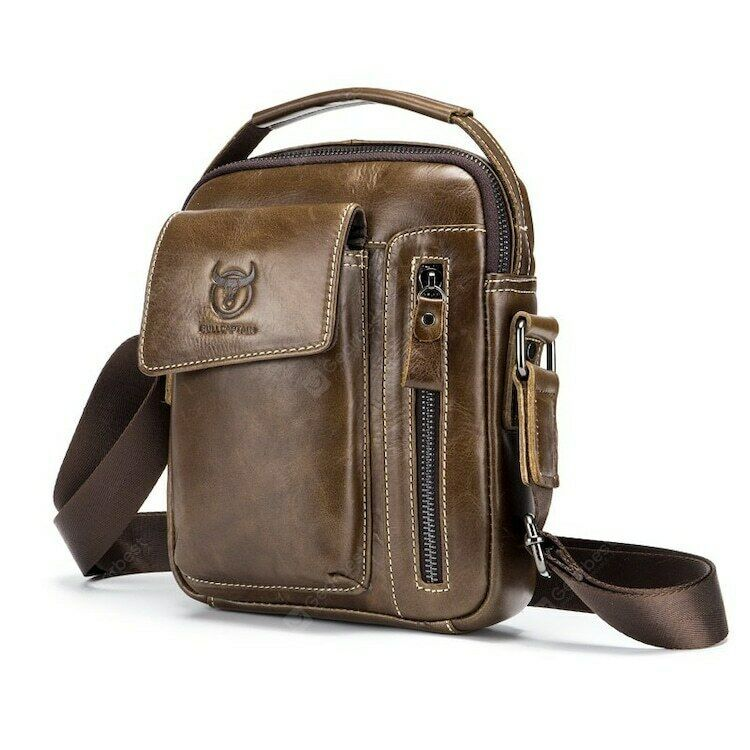 Crossbody Bags for Men Business Briefcase Handbags Leather Casual Shoulder Bags