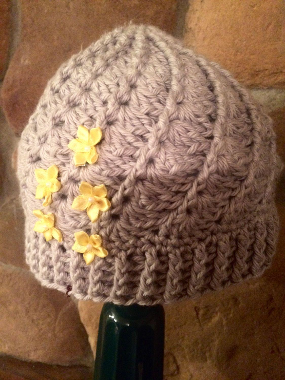Spiral Flower Hat by CreateAllCrochet on Etsy