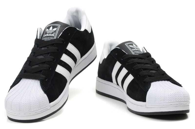 Date PrixRÉDuit Adidas Superstar II Femmes Blanc Noir Moderne