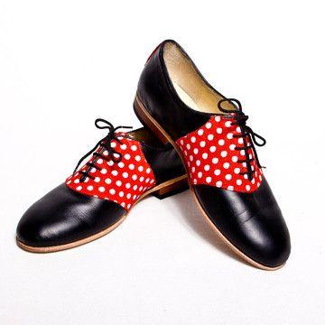 Golfer-Schuhe Damen Polka Schw., 172€, jetzt auf Fab.