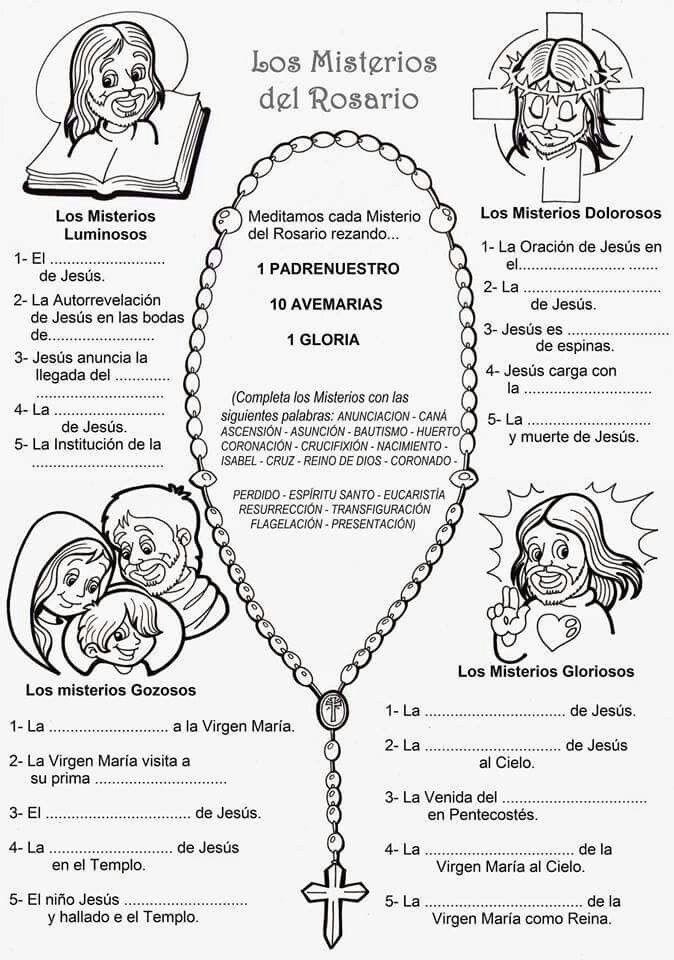 Los Ministerios Del Rosario Misterios Del Rosario Rosarios Ensenanzas Religiosas