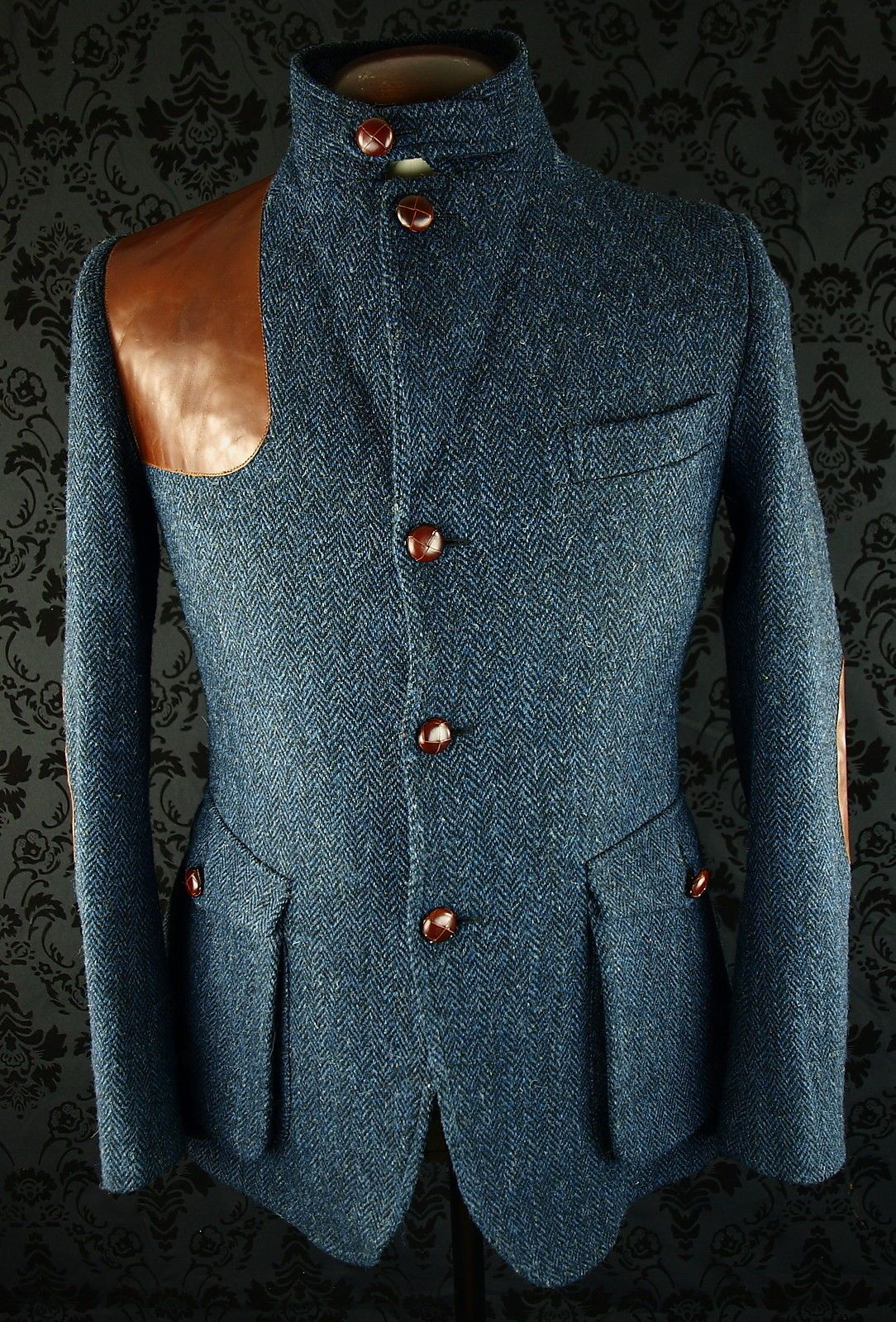 Superb Mens Harris Tweed Norfolk Shooting Hunting Style Jacket