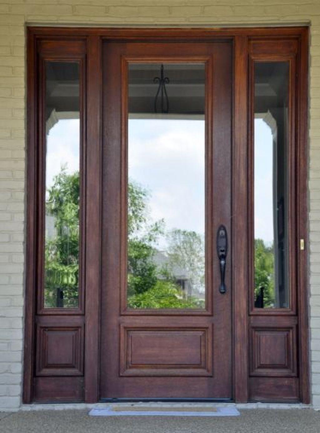 35 Gorgeous Farmhouse Front Door Entrance Design Ideas To Apply Asap Wood Front Doors Best Front Doors Front Entry Doors