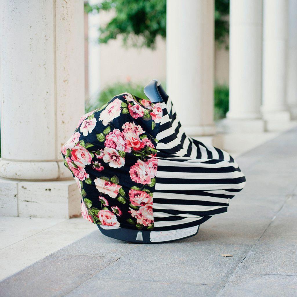 Multi-use Nursing Cover - Black & White and Floral. Scarf/Nursing ...