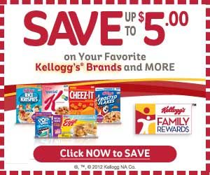 Updated Kellogg S 50 Points Reward Code Free Printable Grocery