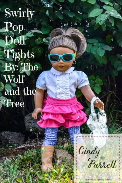 * Swirly Pop Footed Doll Tights