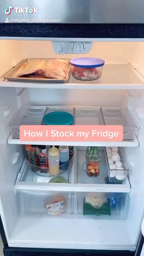 How to: Stock your Fridge @all_things_organized on TikTok  . . .  mdesign  fridgebins  organization  fridge  organizer  fridgegoals  food  groceries