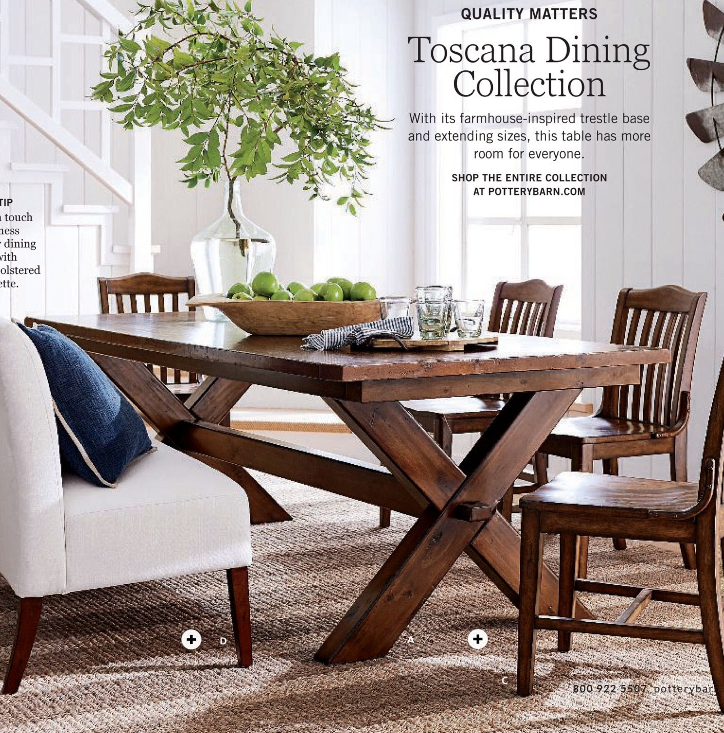 Toscano dining table stella dining chairs barrett glass globe chandelier in performance everyday linen ivory highland farmhouse banquette
