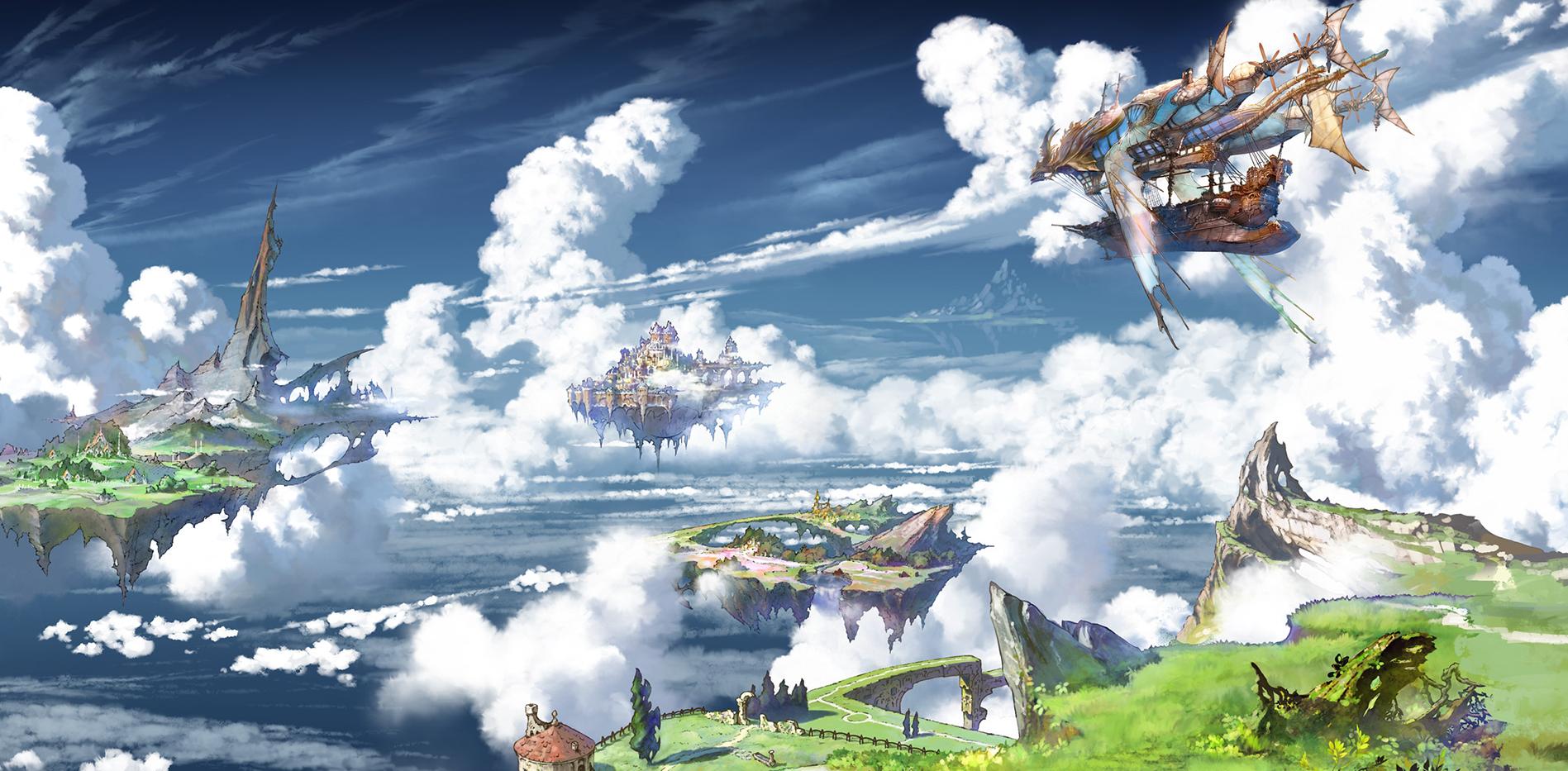 空に島が浮かぶグランブルーファンタジーの画像