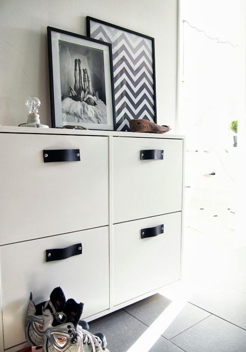 hitta hem d i y l derhandtag ikea st ll schuhschrank ikea hacks pinterest ikea hack. Black Bedroom Furniture Sets. Home Design Ideas