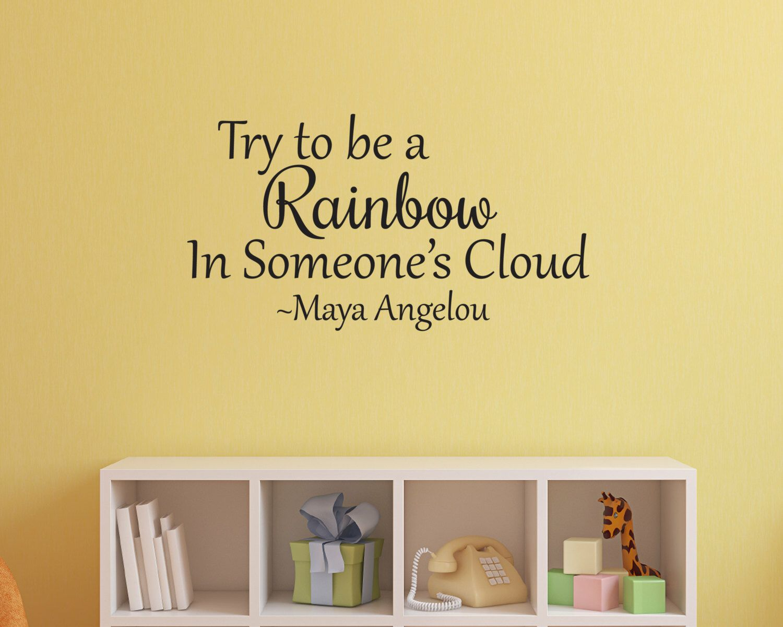 Maya Angelou Wall Decal, Vinyl Wall Decal, Vinyl Wall Art ...