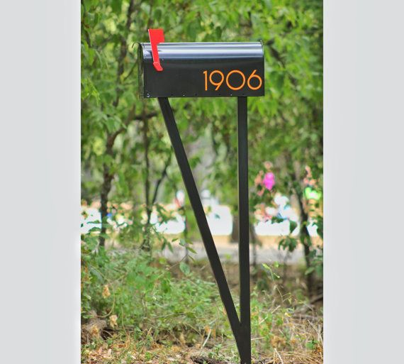 Modern Steel V Mailbox Post Mailbox Post Modern Mailbox