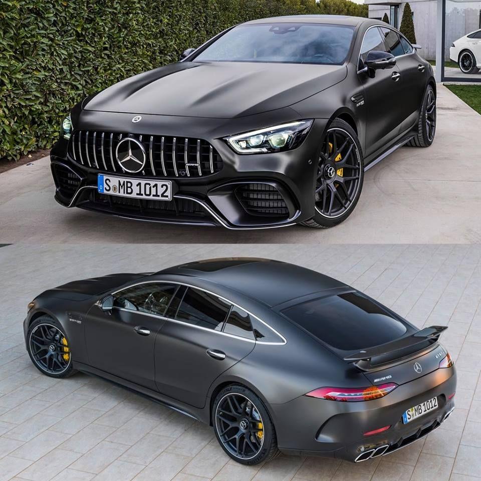Matte black Mercedes AMG GT 63 S #mercedesamg