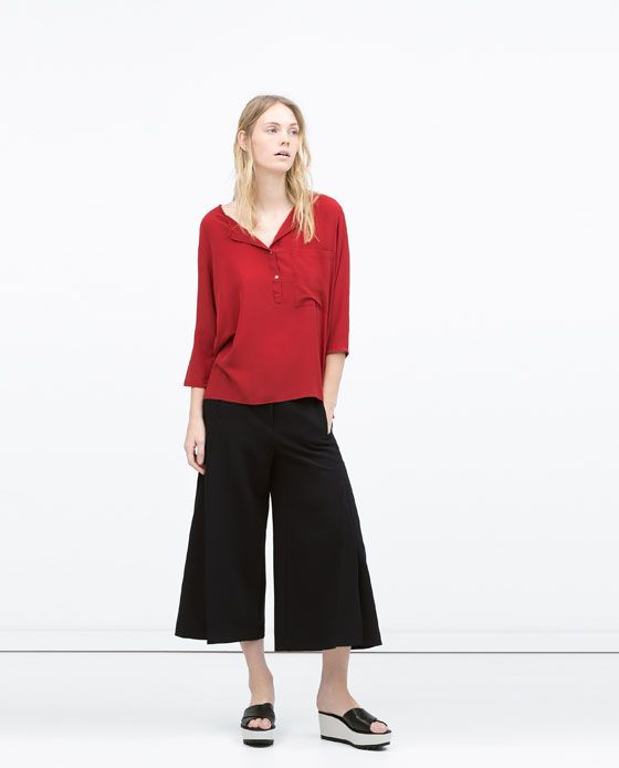 ZARA - WOMAN - OVERSIZE CROP SHIRT