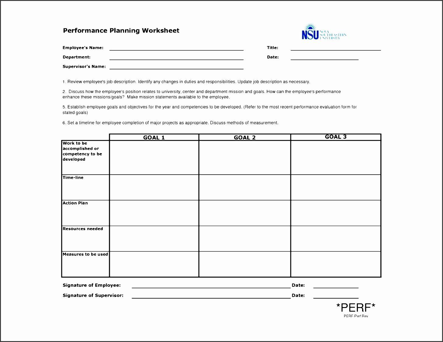 Performance Improvement Action Plan Template New 9 forma