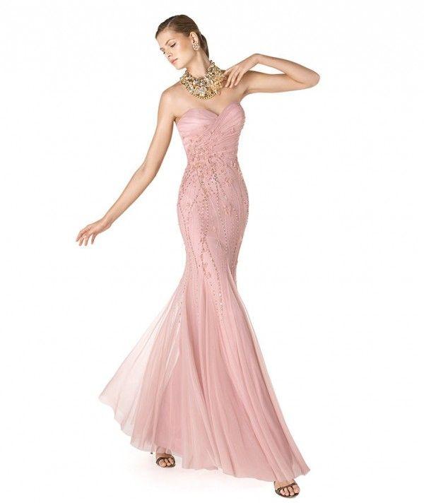 Vestido de fiesta para damas de boda en color rosa pastel - Foto La ...