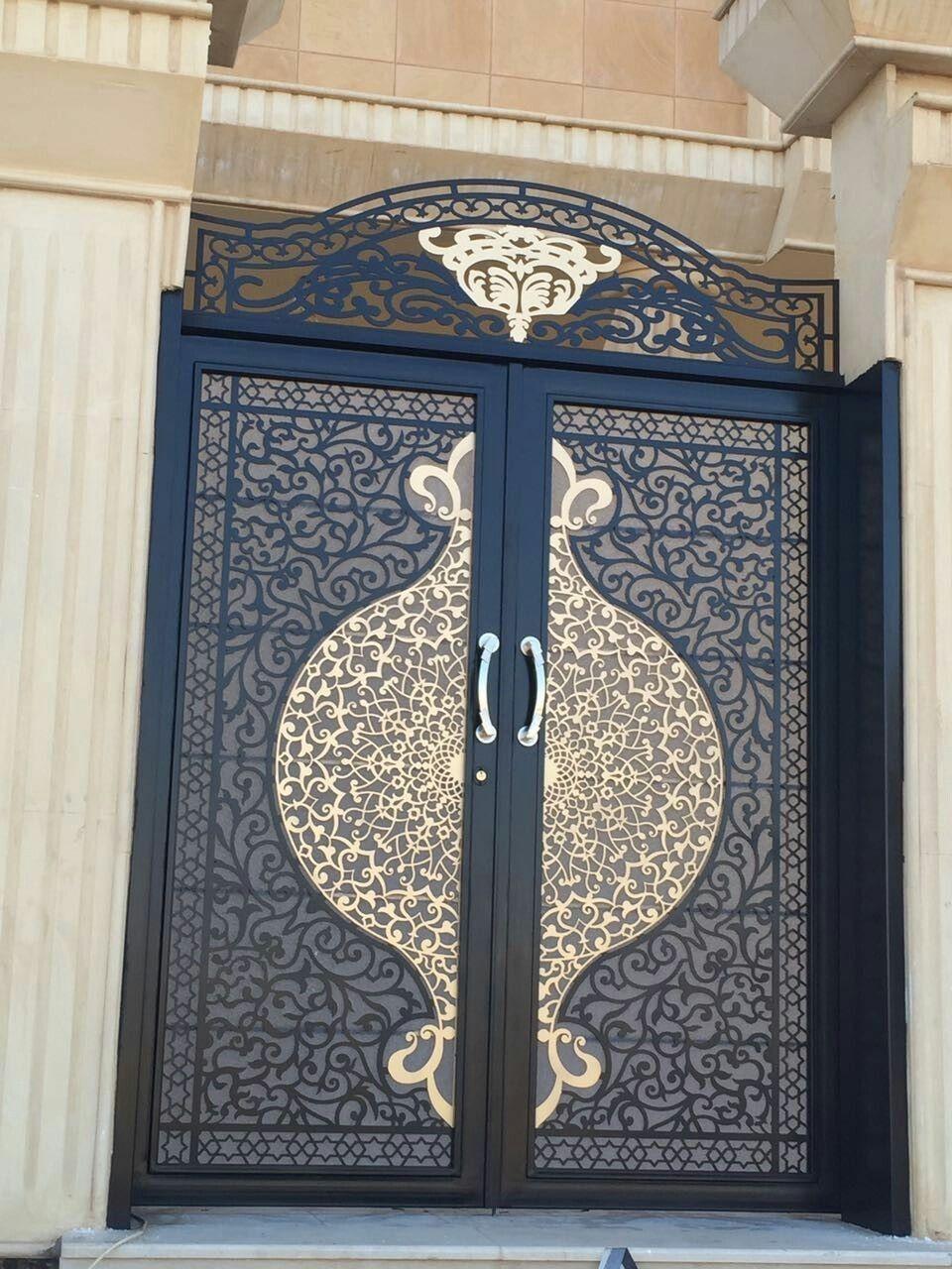 Pin By Sulaiman Kh On خحخ Iron Door Design Door Gate Design Exterior Door Designs