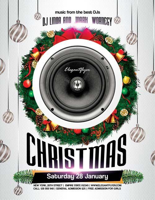 Christmas Party Free PSD Flyer Template - http://freepsdflyer.com ...