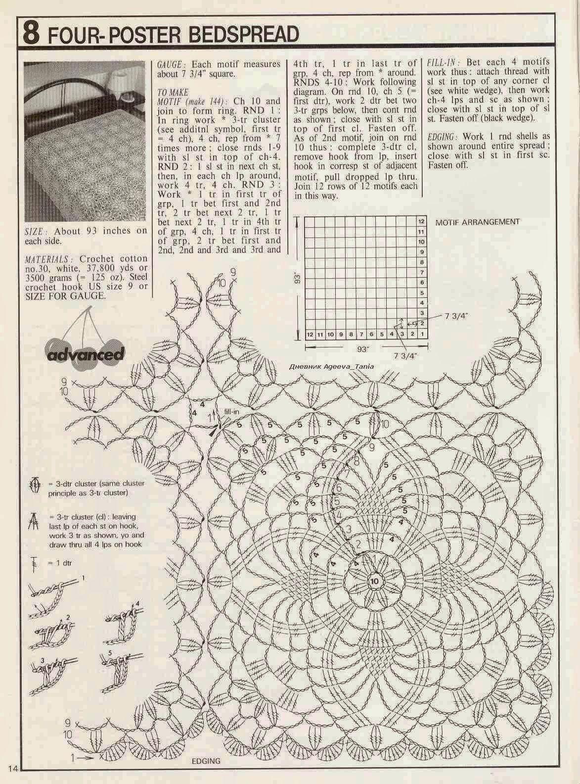 Crochet and arts: bedspread | Crochet Bed Sheets | Pinterest ...