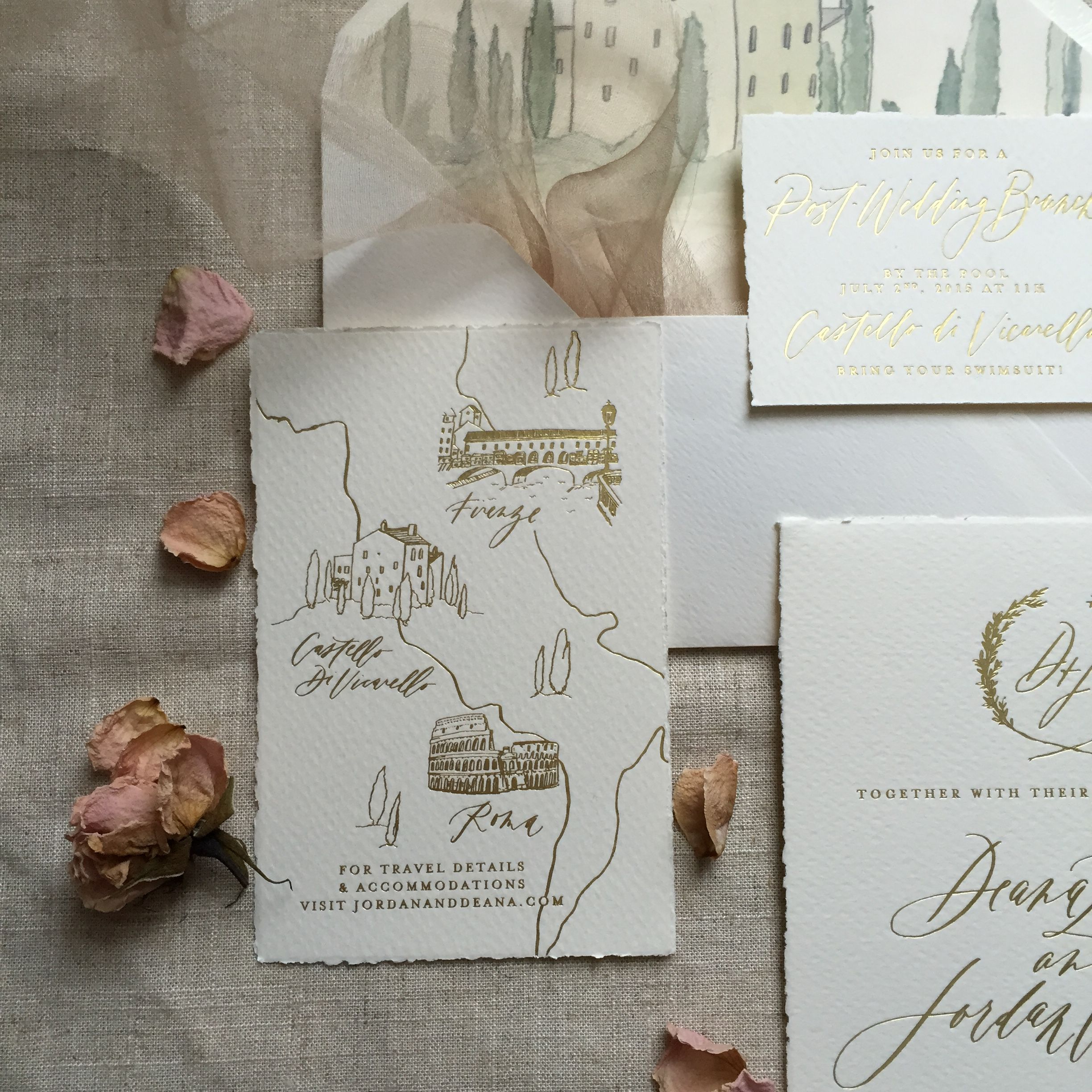 Where To Buy Wedding Invitation Paper: Destination Wedding Invitations / Tuscan Invitations