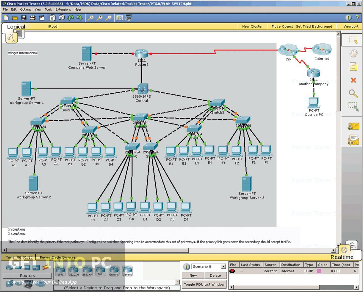 Learn What is a Routing Table and how to Create it in Cisco Packet ...