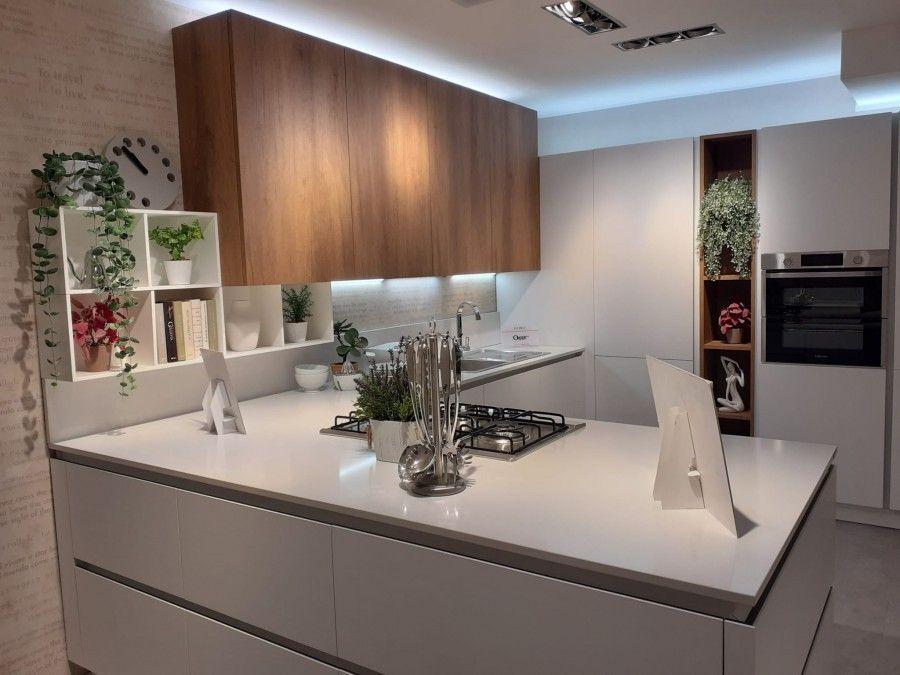Cucina Con Penisola Veneta Cucine Oyster Pro A Roma Sconto 53 Progettazione Di Una Cucina Moderna Arredo Interni Cucina Cucine