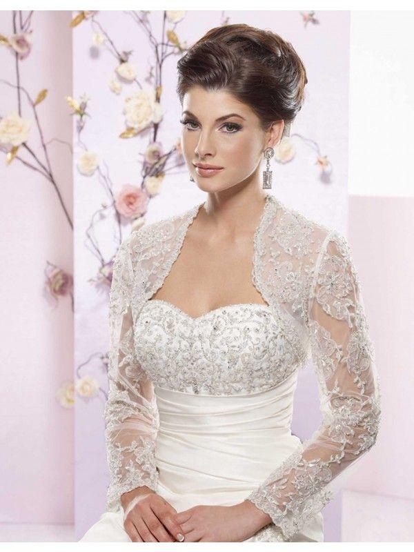 long sleeve wedding bolero | Tailor Made Long Sleeves Bolero for ...