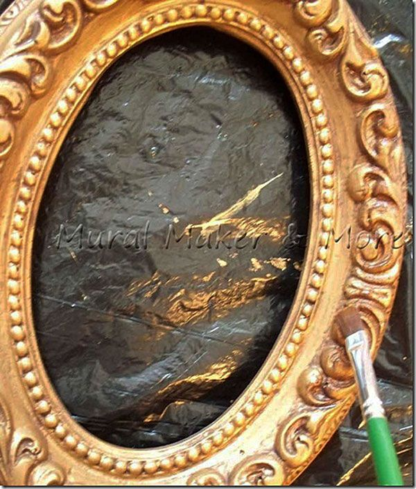 How to paint an Antique Gold Faux Finish is part of Gold painted furniture, Gold furniture, Gold framed mirror, Vintage gold mirror, Painting mirror frames, Spray paint mirror - how to paint an antique gold faux finish