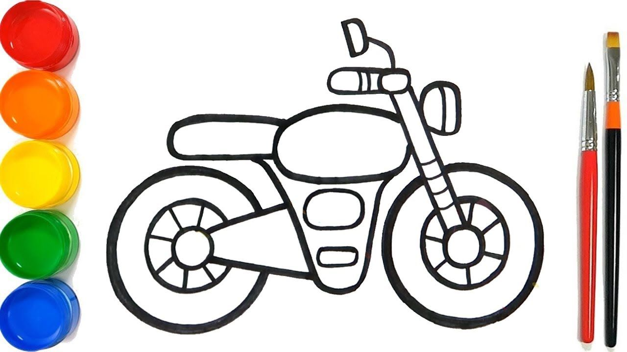 Glitter Toy Motorcycles Coloring Pages For Kids Cara Menggambar Dan Me Coloring Pages For Kids Drawing For Kids Coloring Pages