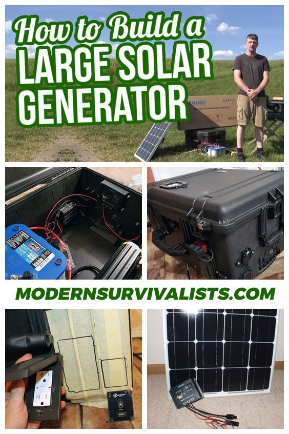 The finished large solar generator featured in our