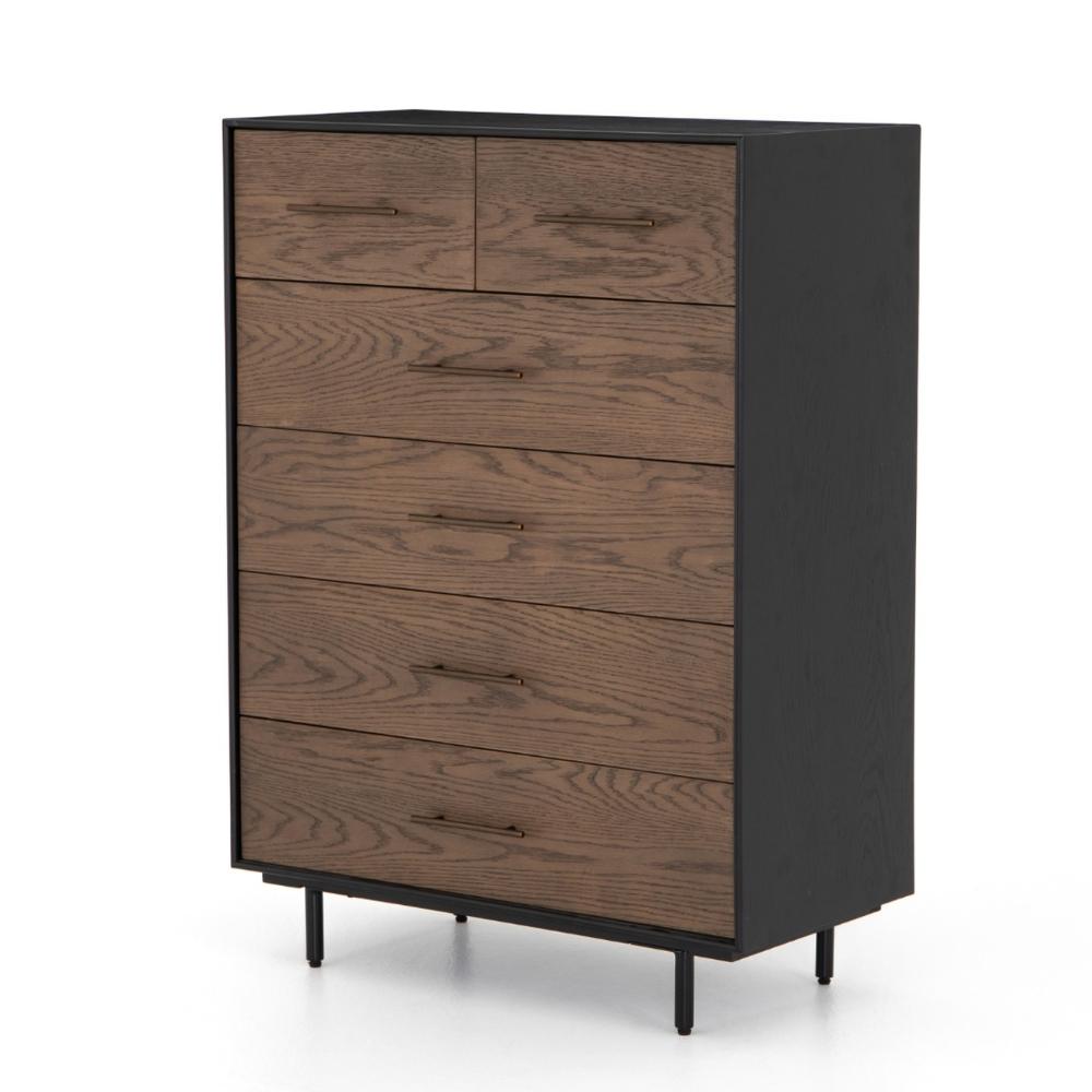 August Modern Black Oak 6 Drawers Tall Dresser 6 Drawer Tall Dresser Tall Dresser Tall Drawers [ 1000 x 1000 Pixel ]