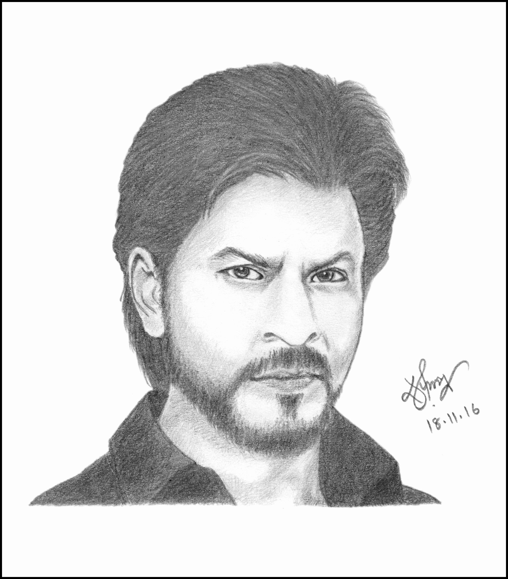 shahrukh khan coloring pages | Shahid kapoor pencil sketchesfine art in 2018 t Shahid
