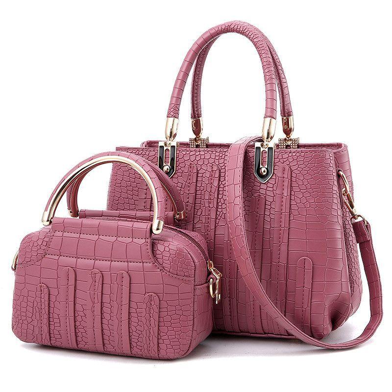 Nevenka Fashion Women Bag Composite Brand Tote Las Evening Handbag Shoulder Bags Solid Pu Leather