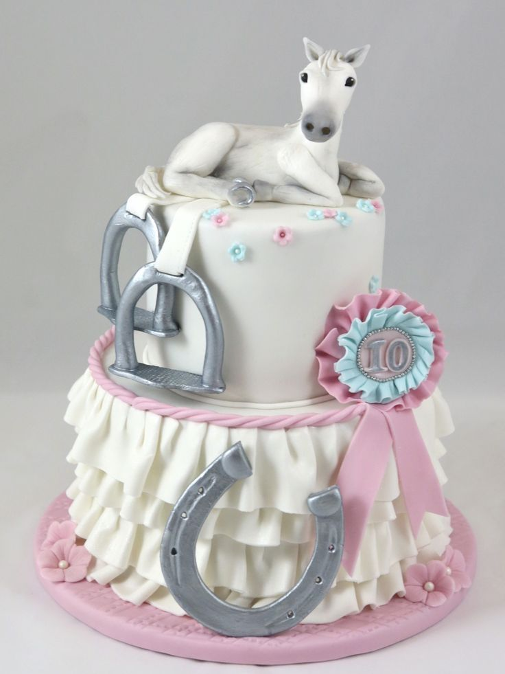 Pferd Horse Cake Fondant Girl Birthday Mädchen Geburtstag Torte #fondant