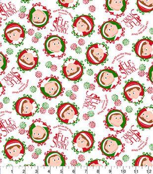 Christmas Cotton Fabric Elf On The Shelf Elf Story Christmas