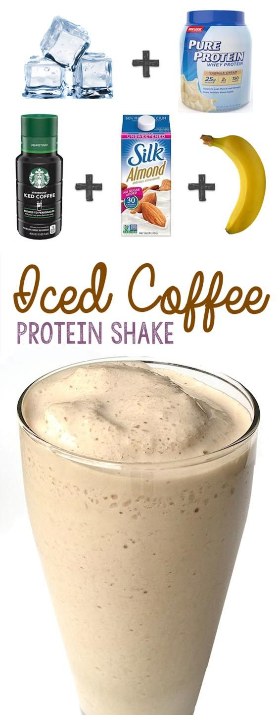 Iced Coffee Protein Shake Recipe #proteinshakes