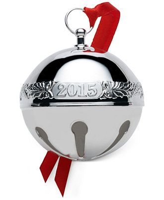 Wallace 2015 Sleigh Bell 45th Edition Silver Christmas Ornament