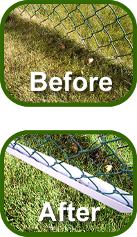 Tired Of Your Chain Link Fence Eating Weed Eater String Well The Easy Trim Guard Is Ideal For A Trimmed Lawn