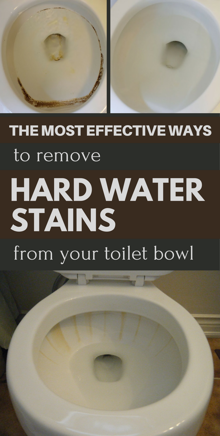 The most effective ways to remove hard water stains from your