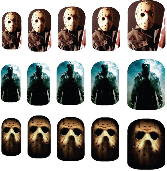 Friday the 13th Jason Voorhees Nail Art Decals by NailSpin | My ...