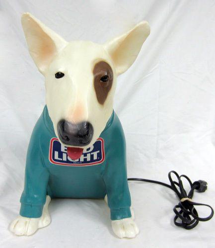 Spuds Mackenzie Bud Light Beer Dog Light Lamp Part Animal Lighted ...