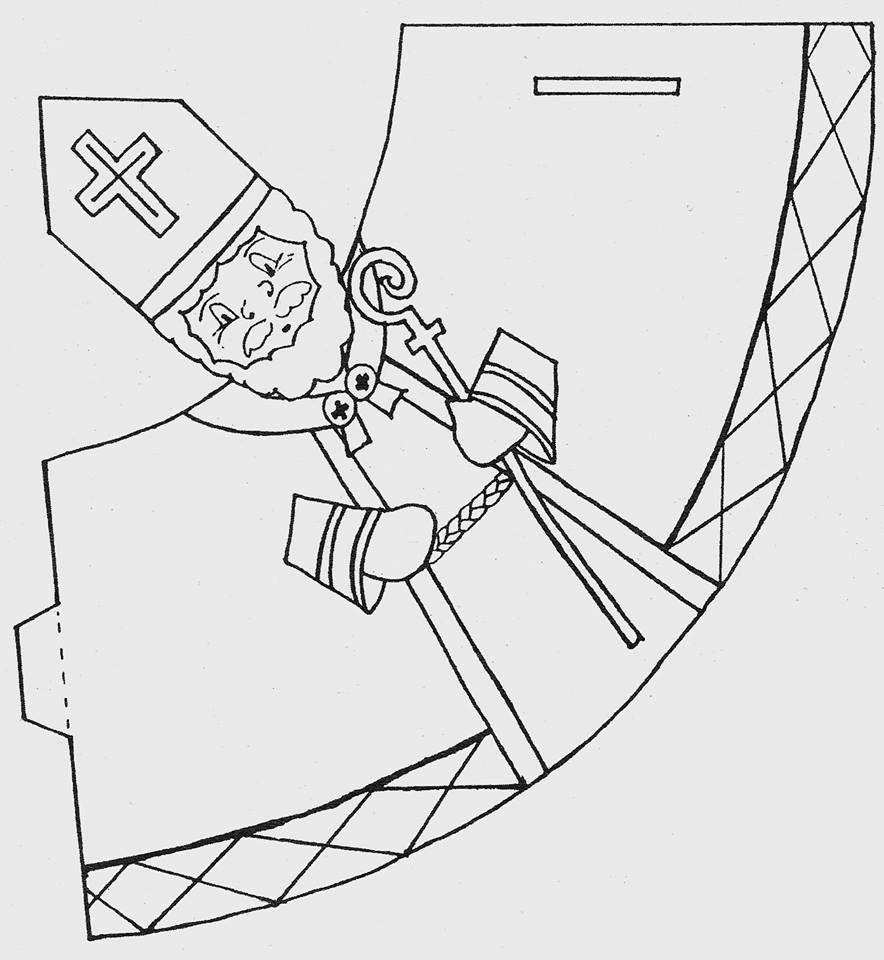 ausmalbild bischof nikolaus  amorphi