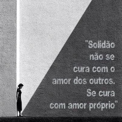 Amor-próprio solidão