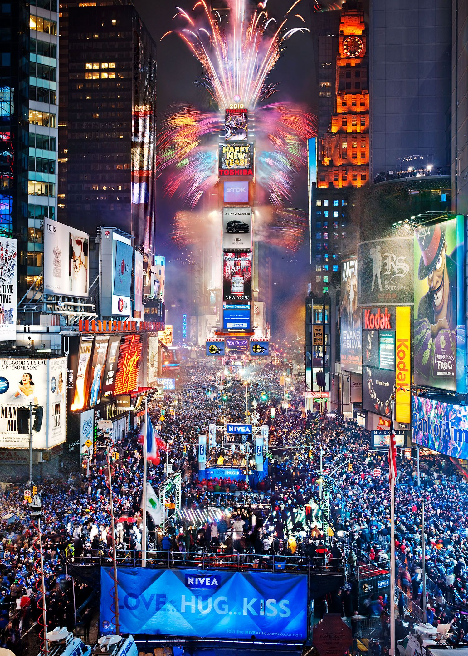 New Year's Eve In Times Square. Definitely A Dream Come