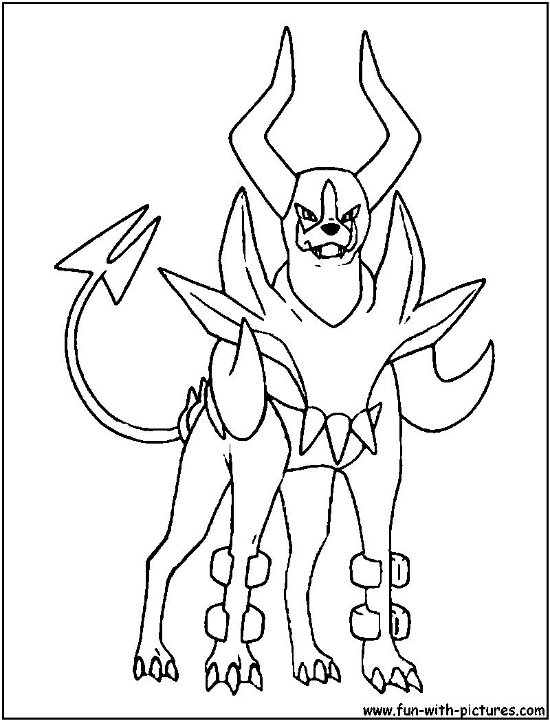 Pokemon Coloring Pages Mega Houndoom