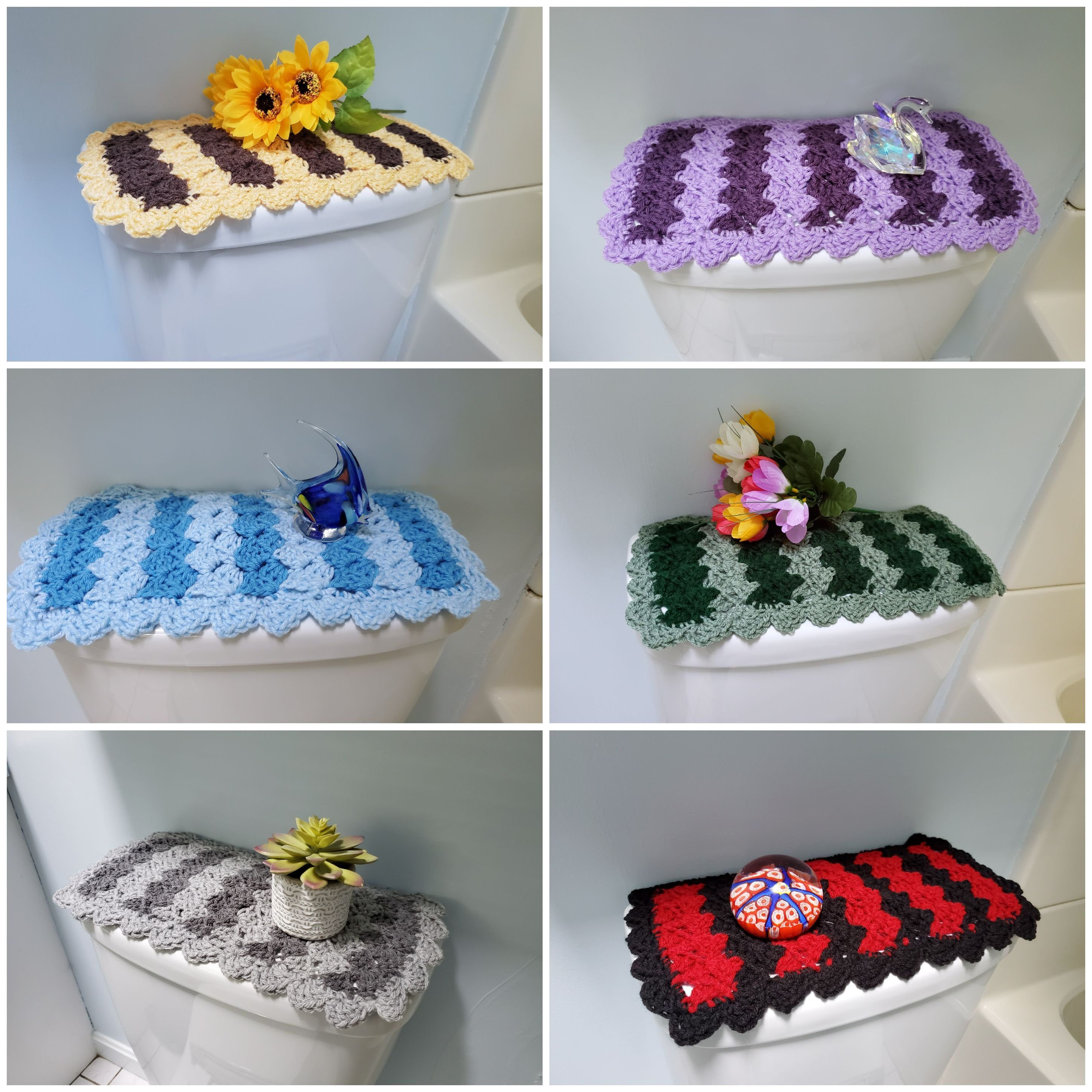 Toilet Tank Topper Crochet Toilet Tank Topper Bathroom Decor 6 Colors Ttt2a 2f Crafts To Make Sell Hobbies Crafts Crafts To Make