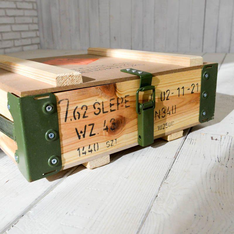 wooden ammunition box 収納 棚 pinterest